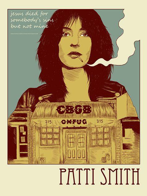 Art print poster Patti Smith #4