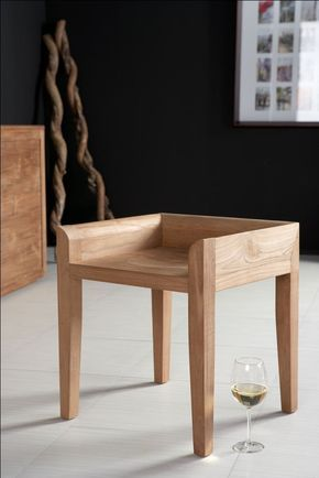A Chair Trying To Be A Stool Or A Stool Trying To Be A Chair Anyway Beautiful Teak Wood Furniture Furniture Wood Chair Design