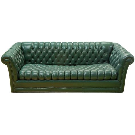 Strange Green Leather Chesterfield Sofa Alphanode Cool Chair Designs And Ideas Alphanodeonline