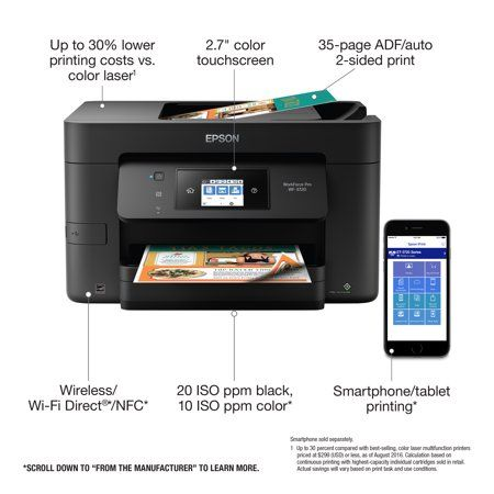 Epson Workforce Pro Wf 3720 Wireless All In One Color Inkjet Printer Walmart Com Epson Inkjet Printer Inkjet Printer Printer
