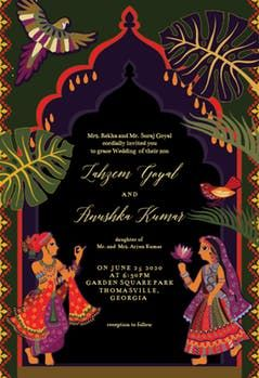 Indian Lovers Wedding Invitation Template Free Greetings Island In 2020 Indian Wedding Invitation Cards Indian Wedding Invitations Wedding Invitation Card Design