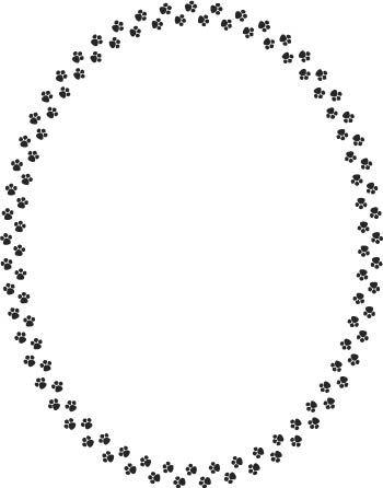 Clip Art Borders Frames Paw Print Clip Art Clip Art Frame