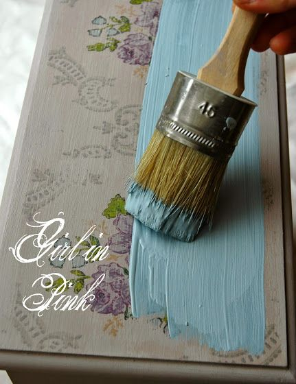 Girl in Pink: How to Create an Aged Vintage Wallpaper Finish