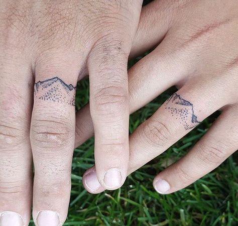 Beautiful mountain wedding band tattoos. | Wedding Bells ...