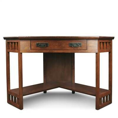 Details About Corner Computer Or Writing Desk In Mission Oak Finish Id 3146331 Oak Desk Home Office Furniture Furniture