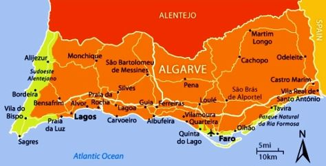 AlgarveMap Things To Do In Algarve Went To Faro As Well As - Portugal map sagres