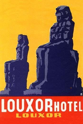 Louxor Hotel Luggage Label