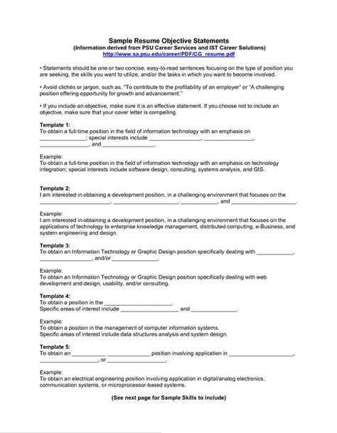 Examples Of Resume Objectives For Management Examples Of Resume - resume objectives for management