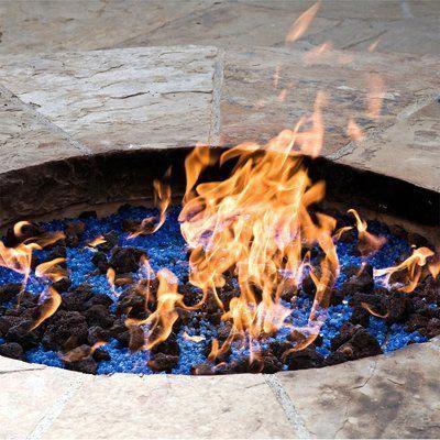 Fire Pit Essentials Lava Rock Natural Stones Fire Pit Glass Color
