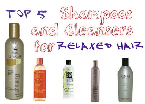 These 5 cleansers will clarify your relaxed tresses and infuse much needed moisture during the cleansing process.