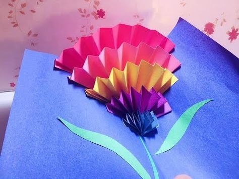 Diy Easy Mother S Day Card I Simple Cute Youtube Pop Up Flower Cards Birthday Card Pop Up Cards Diy Easy