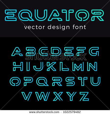 Monogram Logo Font Vector Alphabet Design Negative Space Linear Style Abc Letter Logotype Templates Creative Outline Typefac Lettering Vintage Ads Typography