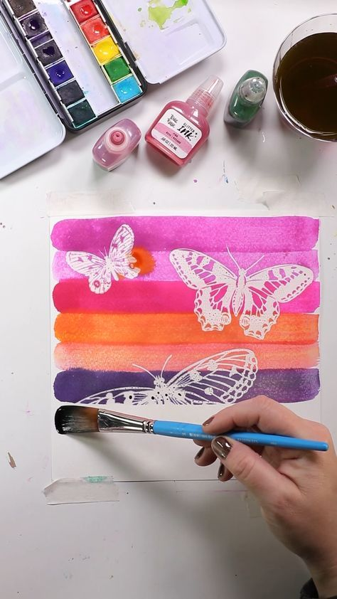 Use Watercolor Ink And A Watercolor Resist Pad To Make A Beautiful