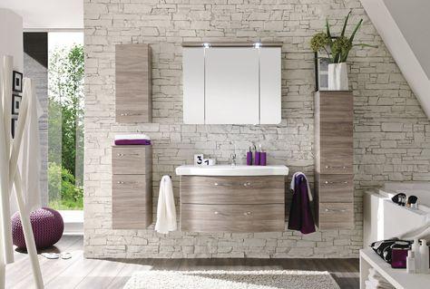 Solitaire u2022u2022 Spiegelschrank mit LED-Kranboden, Keramik-Waschtisch - badezimmer leonardo 08