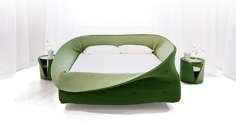 LAGO Col-letto Bed  turtleneck-like soft frame  can be rolled up or down and fasten in place with velcro