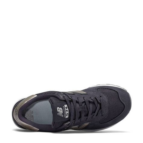 New Balance WH574 suède sneakers paarszilver New balance