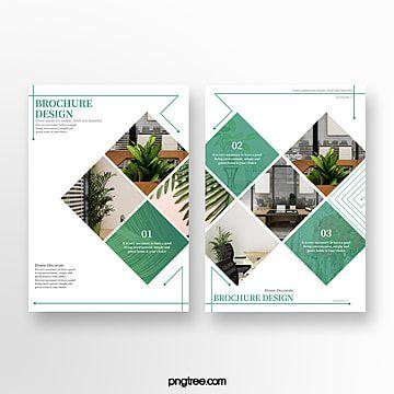 أخضر بسيط دليل أزياء المنزل Brochure Design Design Simple Style
