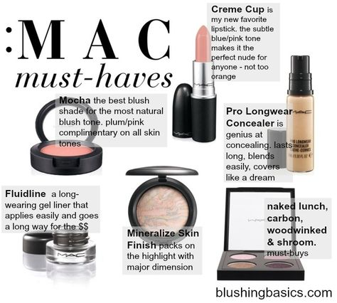 MAC Makeup Must-Haves // a shopping list of my repeat, always have on stock, MAC makeup products // #blushingbasics
