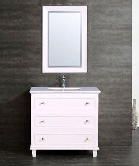 White Bathroom Vanity MV2596030