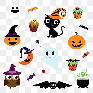 Vector Halloween Elements Halloween Images Clipart Cat Background Png And Vector With Transparent Background For Free Download Halloween Vector Halloween Design Bat Vector