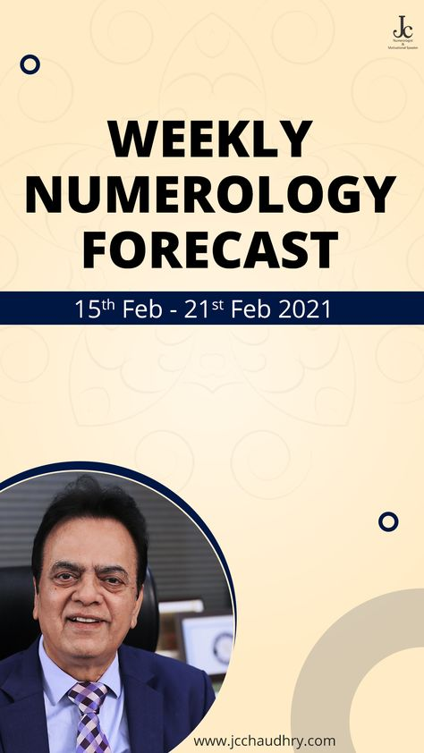 What's there for you this week. Numerology Predictions by #JCChaudhry (15th Feb - 21th Feb 2021) #Numerology #Predictions #ThisWeek #WeeklyForecast #WeeklyPredictions #Feb2021 #February2021 #Destiny #DailyPredictions #PsychicReading #spiritual #healing #career #investment #business #luckydate #luckydays