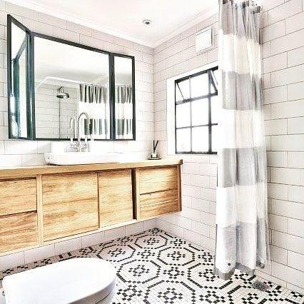Bo Kaap Project Bespoke Bathroom Solid Kiaat Wood Vanity Custom Mosaic Floor Wet Room Bathroomdesign Bathro Mosaic Flooring Bespoke Bathroom Wet Rooms