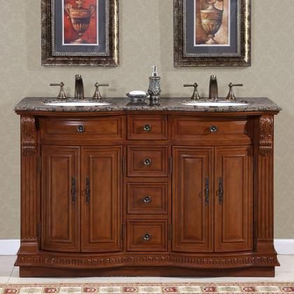 Hyp 0223 Bb Uwc 55 55 Double Sink Cabinet With 4 Drawers 4 Doors