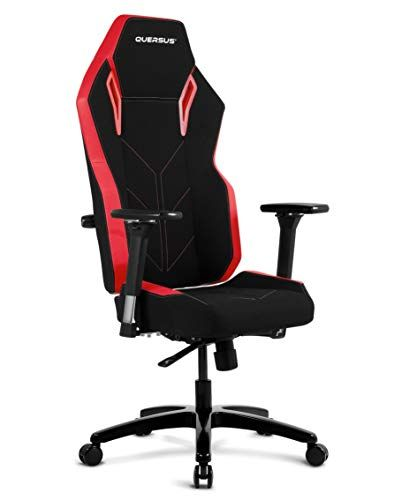 Quersus Vaos 501 Siege Gamer Tissu Noir Rouge M Xl Gaming Chair Chair Chaise