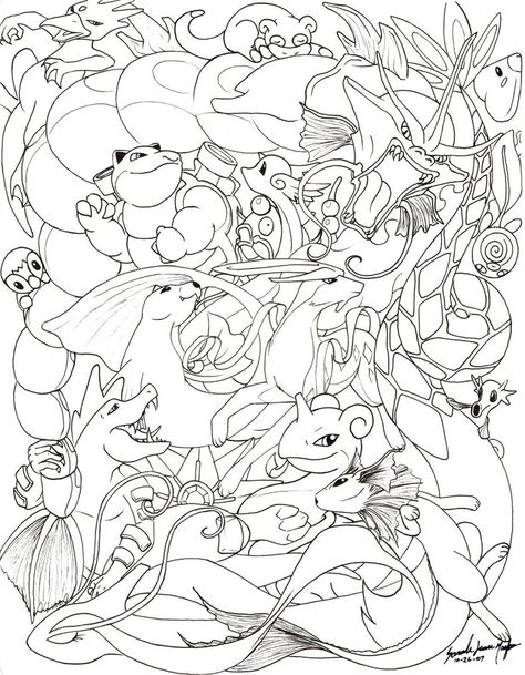Water Pokemon Line By Therainedrop Pokemon Coloring Pages Pokemon Coloring Pokemon Coloring Sheets