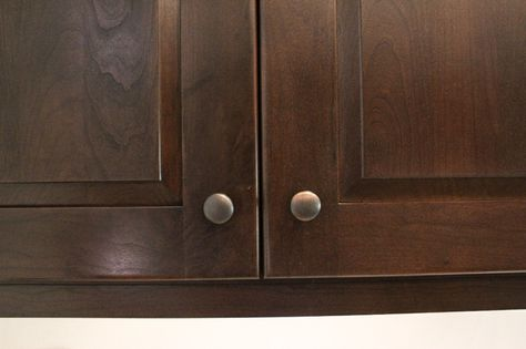 Cherry Wood Cabinets With A Cognac Stain The Hardware Paired With It Is  Dark Bronze/antique Copper Knobs