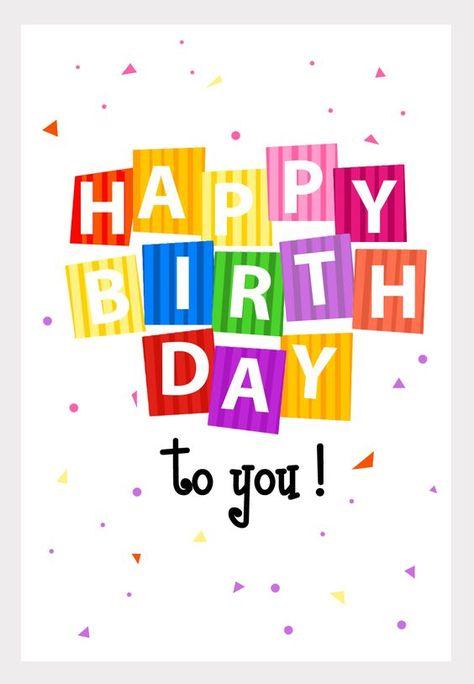 Tarjeta de cumplea/ños con texto en ingl/ésHappy Birthday to You! Boofle