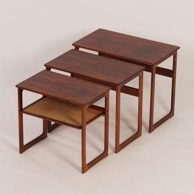 Danish Nesting Tables By Johannes Andersen Illum Wikkelso For Cfc Silkeborg 1950s For Sale At Pamono Nesting Tables Danish Furniture Design Danish Furniture