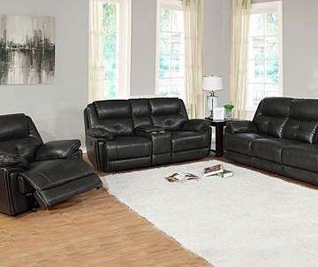 Granger Dark Gray Console Faux Leather Loveseat Leather Living