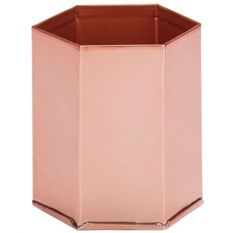Mystic Rose metal pen pot - copper. Similar to Anthropologie Style