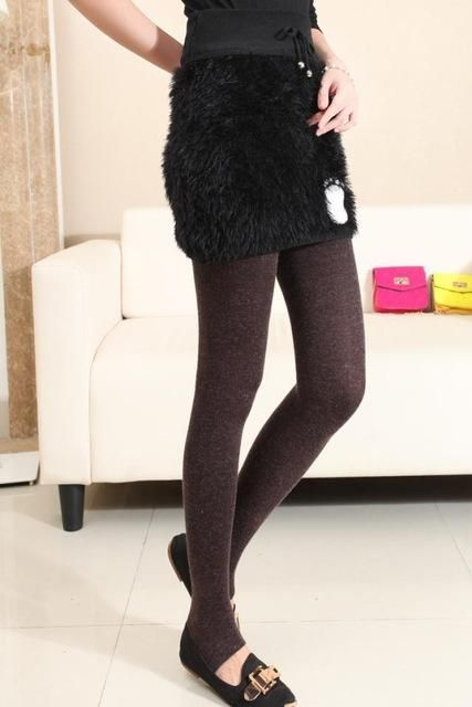 New Winter Women Sparkling Warm Tights Dot Design Thick Soft Cotton Wool Fabric Knitted Pantyhose Flexible Leggins Ladies Tight