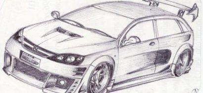 Karakalem Modifiyeli Araba Cizimleri 2396 606x280 Car Drawings Drawings Car