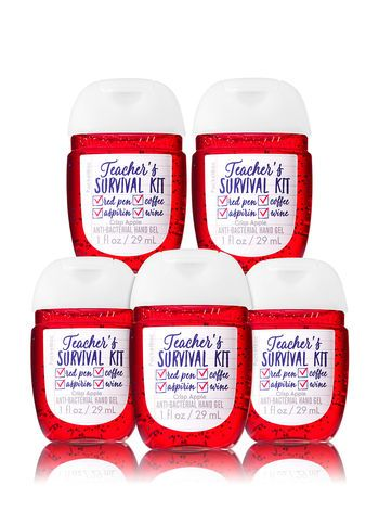 Teacher S Survival Pocketbac Hand Sanitizers 5 Pack Bath And