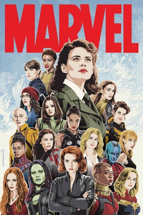 Dope Fan Art. Who is your favorite female character from the MCU?