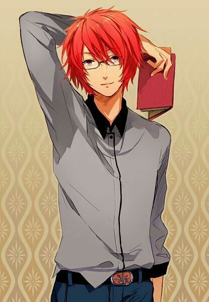من يطلب صور فتى بشعر احمر Anime Glasses Boy Anime Red Hair Anime Guys With Glasses