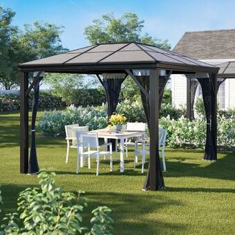 Whittlesey Aluminum Patio Gazebo In 2020 Patio Gazebo Gazebo Wood Patio