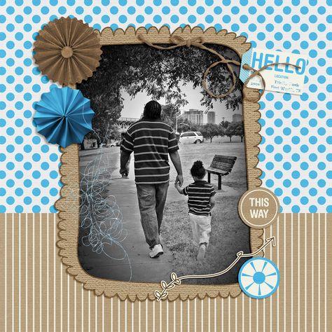 Family Album 2009: Dad layout by Tina Shaw | Pixel Scrapper digital scrapbooking
