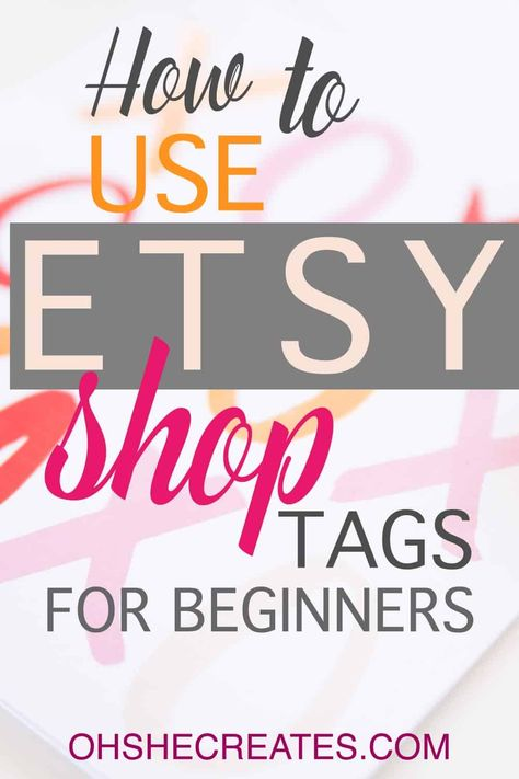 Etsy shop tags
