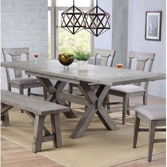Filkins Extendable Dining Table Farmhouse Dining Room Table