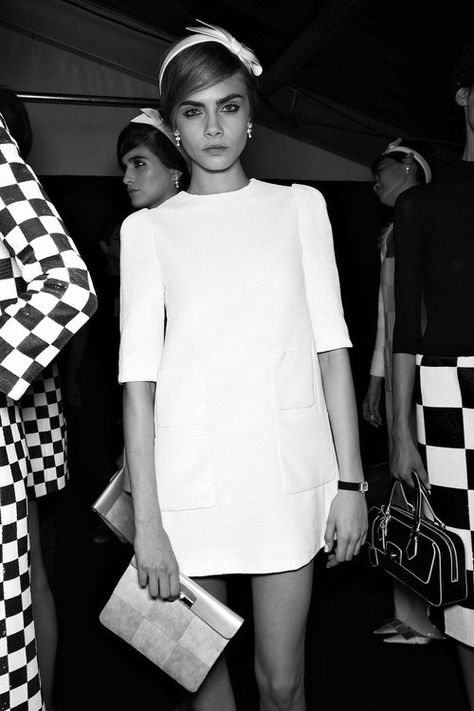 Chic Retro Style - vintage fashion inspiration // Cara Delevingne in Louis Vuitton S/S 2013