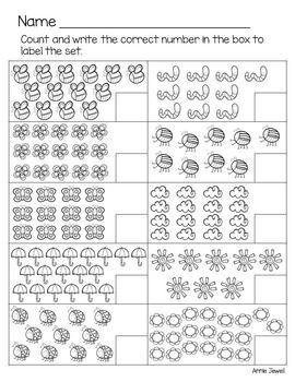Spring Kindergarten Math Activities And Worksheets For The Common Core Mat Kindergarten Math Activities Spring Math Activities Kindergarten Kindergarten Math