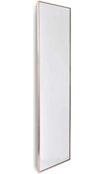 Home Selections Rose Gold Large Metal Framed Long Full Length Wall Mirror 50x150cm Mirror Wall Mirror Metal Frame