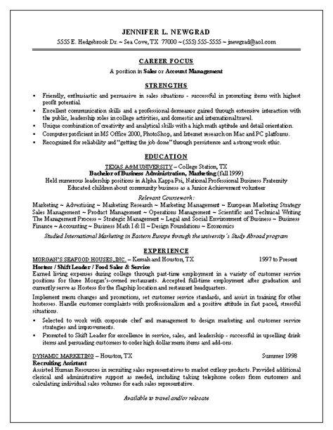 Example Of Resume For Fresh Graduate - http\/\/wwwresumecareer - resume with volunteer work