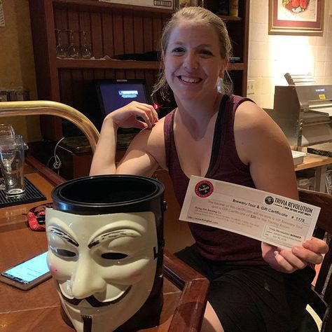 Congratulations to Team Shirazmatazz! for winning our Featured Brewery Prize to Flying Fish Brewing at Smokey's Brick Oven Tavern! . . #trivianight #triviawinners #TriviaRevolution #notyouraveragetrivia #revolutioniscoming #lettherevolutionbegin #jointherevolution #revolution #guyfawkes #craftbeer #craftbeerrevolution #craftbeernotcrap #craftbeerporn #craftbeernj #njcraftbeer #drinklocal #NJCB #NJCBmember #njbeer #njbrewery #triviatuesday