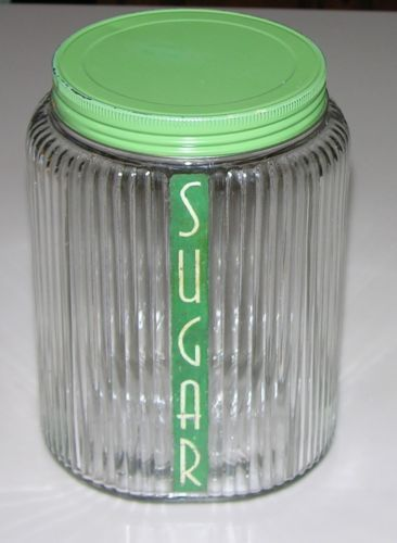 Owens Illinois Canisters Depression Hoosier Glass Ribbed Shaker   $150.00 |  My Jar Obsession | Pinterest | Glass, Glass Canisters And Kitchen Retro