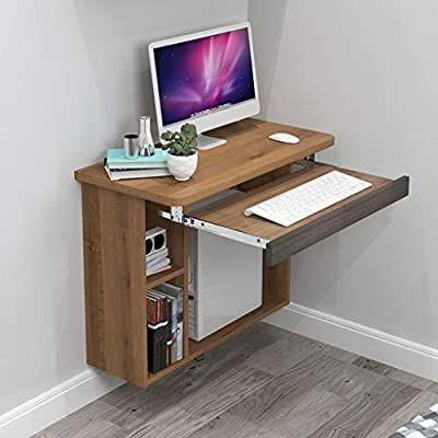 Amazon Com Floating Shelf Floating Table Space Saving Hanging Computer Table Wall Mounted La In 2020 Computer Desks For Home Computer Desk Design Computer Table Design